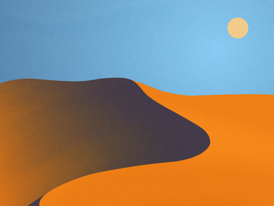 Blue Sahara Sky texture desert art clean illustrator 2d flat vector design logo illustration