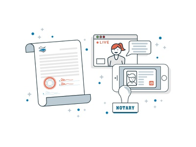 Digital Notary paperstac illustrator 2d flat branding vector icon ui design illustration