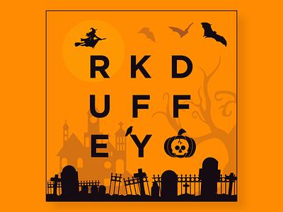 Happy Halloween! scary haunted crow tombstone bat witch skull pumpkin halloween