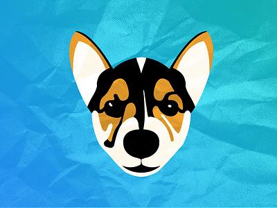 Keely the Corgi - 01 character design dog puppy corgi vector halftone illustration