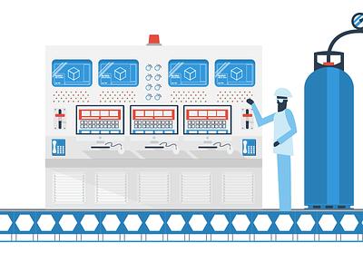 Wacky Factory - pt 2 conveyer computers factory character 2d design flat illustration illustrator vector