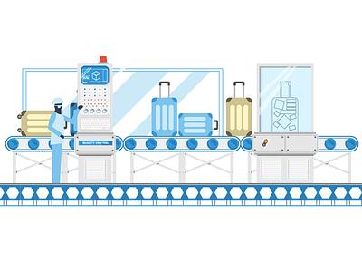 Wacky Factory - pt 3 conveyer computers factory character 2d design flat illustration illustrator vector