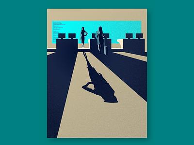 Video Wall Campaign Illo - Alternate shadows textures art passenger airport wall video illustrator 2d vector illustration