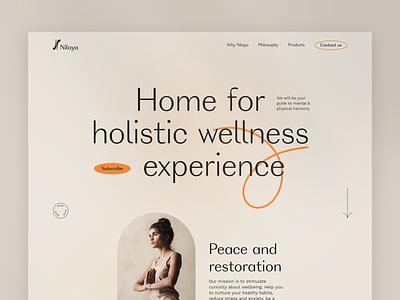 Nilaya. Holistic wellness platform interaction well-being wellness ux concept website design web webs