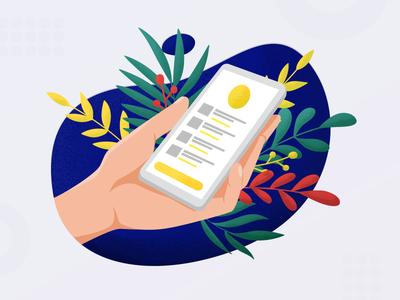 App in hand Illustration