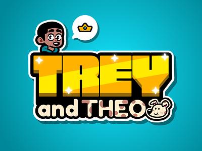 Trey and Theo Logo Design branding character digital art vector graphic design design logo theo and trey