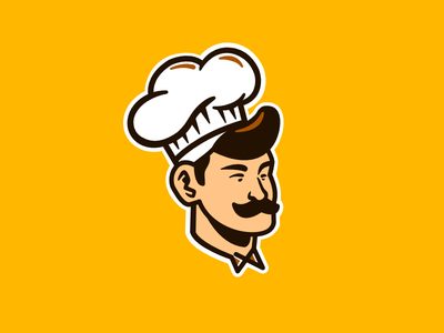 Chef Logo cakes sous chef sous poultry butcher baker pastry food cook design logo chef