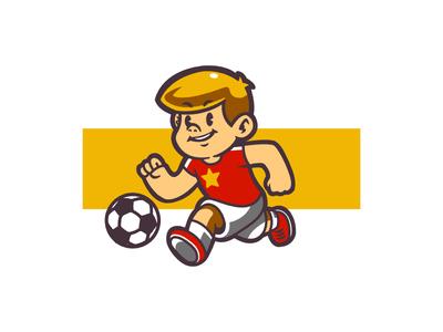 Football Kid Dribbble