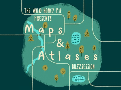 Maps & Atlases brush map buzzsession illustration cover music