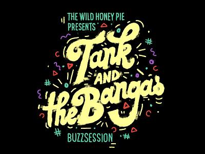 Tank & the Bangas grunge brush buzzsession illustration music cover
