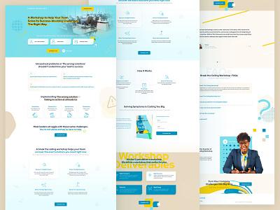 breaktheceiling Homepage Exploration 02 vibrant workshop effort money time illustration icon icons website webdesign homepage landingpage