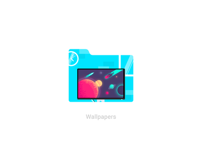 Personal folder icons update 4 display screen monitor dell workspace desk windows material design icons wallpaper folders folder