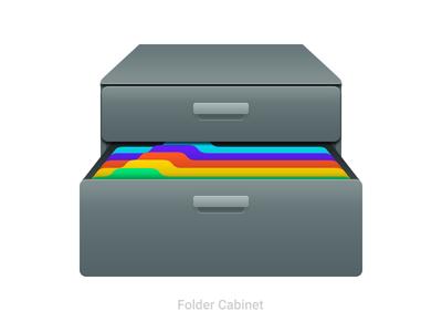 Folder Cabinet 🗄️📁 illustration drawer icons icon cabinet file folder folder cabinet