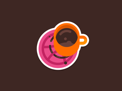 Dribbble Coaster ☕ sticker pack orange mug inspiration illustration dribbble coffee coaster