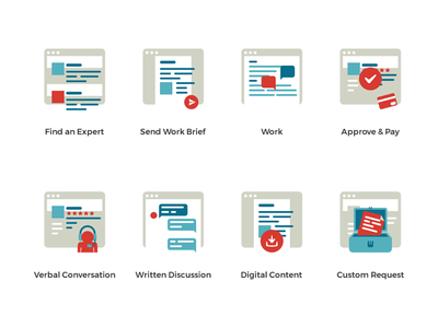 unQube : How It Works Icons unqube howitworks icons icon invite launch dribbbleinvite expert site advise