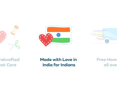 Made With Love In India For Indians fun vector kids children web plush toys toys softtoys illustraion icons icon india flag love