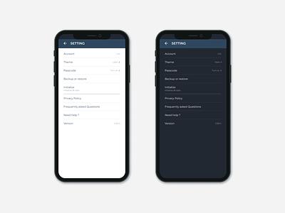 Setting - Diary App | 007 DailyUI setting diary design app dailyui ux ui