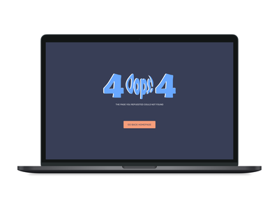 404 Page | Daily UI 008 oops 404 design dailyui ux ui