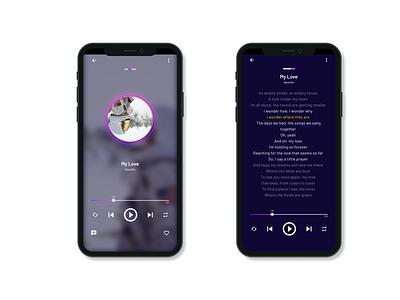 Music Player | Daily UI 009 009 music player app design dailyui ux ui