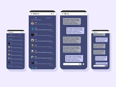 Direct Messaging | Daily UI 013 013 direct messaging design app dailyui ux ui