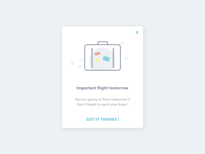 Daily UI #016 Pop-Up / Overlay daily ui reminder flight modal overlay popup 16 016 dailyui