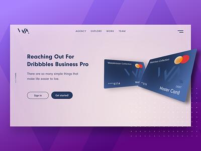 Hello Dribbble - First Shot Webdesign card minimal web design mobile design clean design concept ux ui webdesign