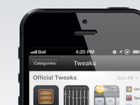 New AppStore Category Concept – Tweaks and Extensions