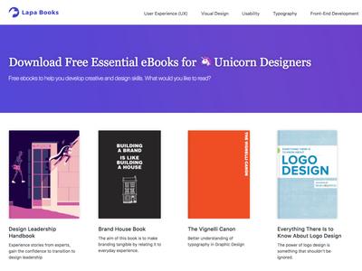 Ebooks for 🦄 Unicorn Designers