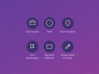 Gett Taxi App - Custom Icons Set 1