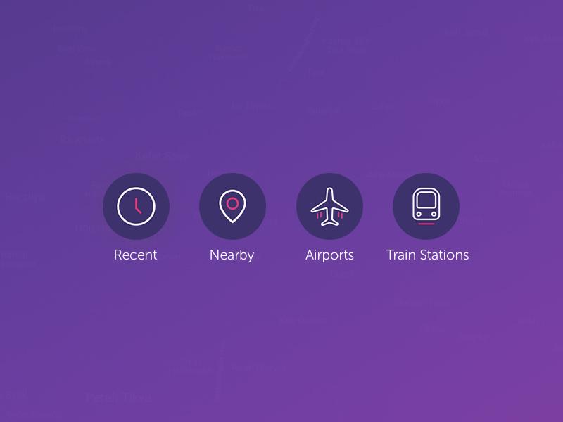 Gett Taxi App - Custom Icons Set 2 by Ilya Boruhov on Dribbble