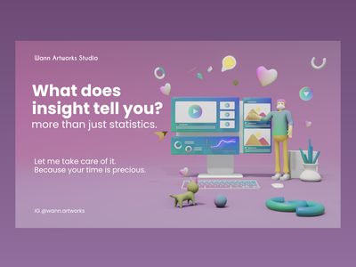 What does social media insight tell you? ui branding graphic design motion graphics 3d animation