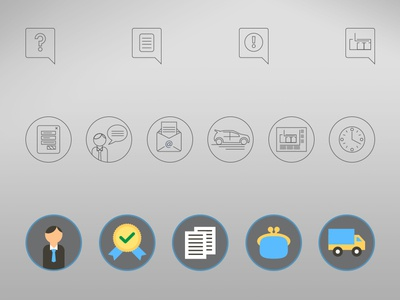 Icons for evacauation plan services site