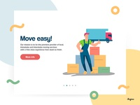 Flat illustration about moving