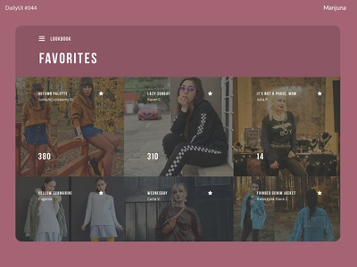 Daily UI #044 - Favorites