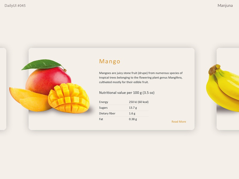 Daily UI #045 Info Card fresh clean light typography interface ui web about page about e-commerce website e-commerce eco food fruits info design info card card daily ui 045 daily ui dailyui