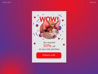 Daily UI #061 - Redeem coupon