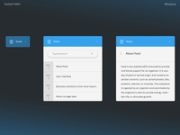 Daily UI #065 Notes Widget