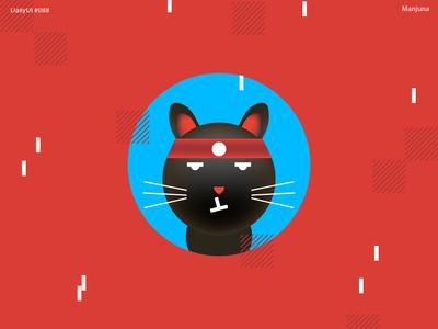 Daily UI #088 - Avatar red logotype daily-ui illustrator icons interface ui web flat avatar icons icon avatars fun cat ninja japan illustration avatar daily ui dailyui