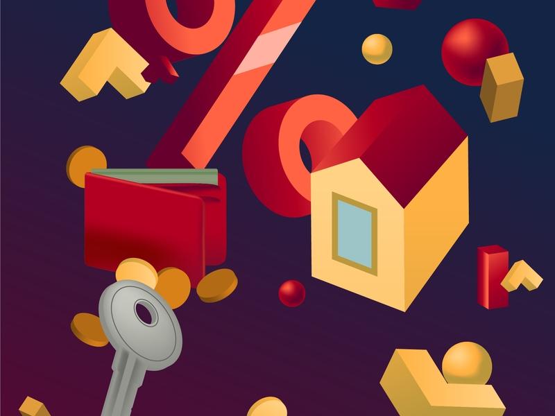 La la vector illustrator art illustrator graphic design graphic illustration real estate loan mortgage
