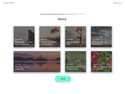Daily UI #094 News list articles blog items cards typography ux interface flat ui art web interface web news app minimal dark news design news feed news dailyui daily-ui