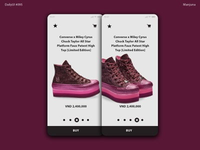 Daily UI #095 Product tour card keds miley cyrus shoes store design ux dailyui daily ui flat simple mobile app design mobile app mobile ui e-commerce product product card converse daily-ui ui