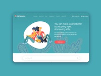 Landing page design with illustration