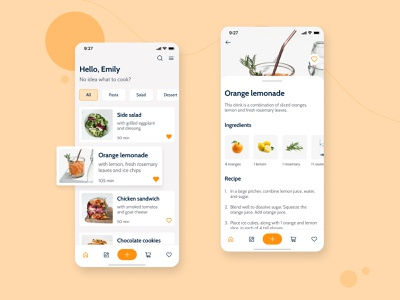 Pantry App ios recipes app mobile app ux ui ui design
