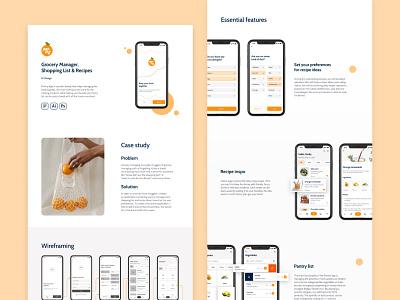 Pantry App UI Design app design ios mobile app ux ui ui design