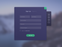 Sign Up form - Daily UI Challenge 001