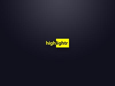 Highlightr ipad iphone mac highlight highlighter app app ui ui highlightr logo branding