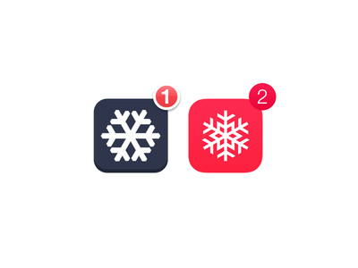 Snow Day app snow day christmas icon red app icon iphone app iphone icon