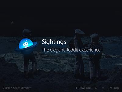 Sightings sightings app mac desktop app icon dark alien reddit ui