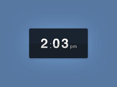 Clock Widget dashpad widget