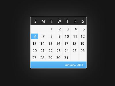 Calendar dashpad widget
